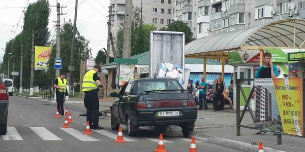 ДТП сталося на зупинці Керченській у бік Молодіжного.