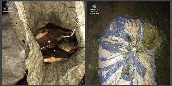Кременчугские патрульные задержали водителя-нарушителя, который оказался браконьером