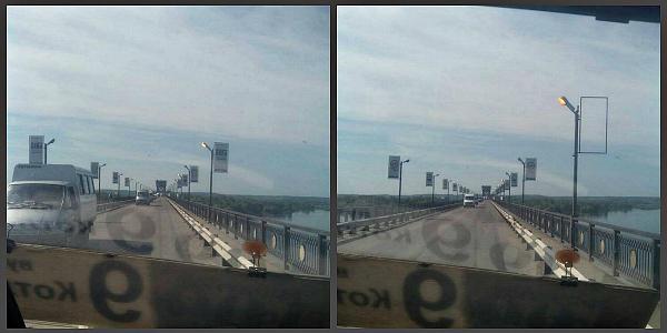На Крюковском мосту фонари горят даже днем