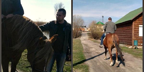 В Кременчугском госпитале бойцов АТО после ранений реабилитируют лошади