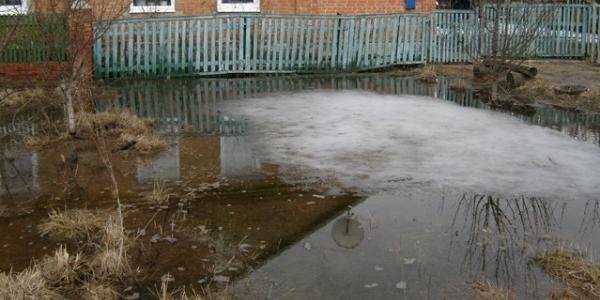 Подтопления в Кременчуге происходит из-за стремительного таяния снега