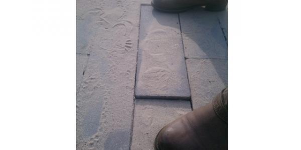 Строители поспешили: плитку вдоль сквера Олега Бабаева снова переложат