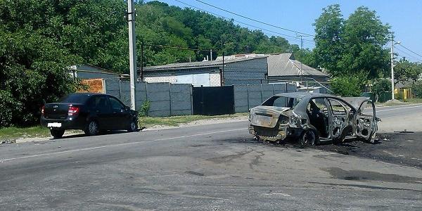 Під Кременчуком в результаті ДТП згорів Chevrolet