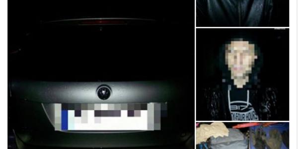 В Кременчуге полицейские «разгрузили» автомобиль с пистолетами