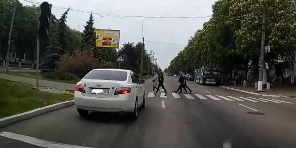 Автомобилисты показали «толпу оленей» в Кременчуге
