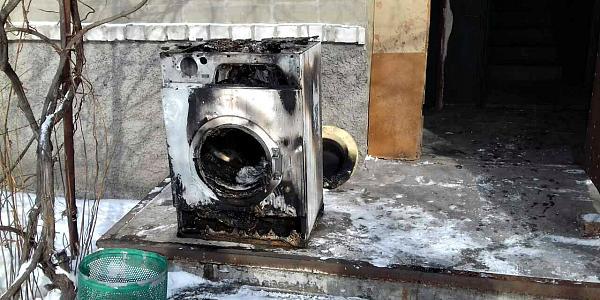 В Горишних Плавнях из-за стиральной машинки произошел пожар