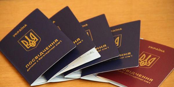 Кременчужане наконец-то получат удостоверения детей с многодетной семьи