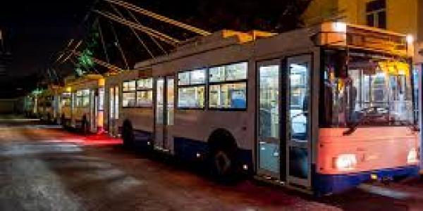 В Кременчуге троллейбусы будут бесплатными в новогоднюю ночь