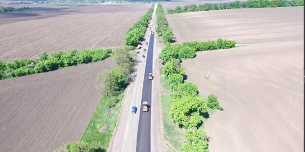 Частково заасфальтували дорогу Полтава-Кременчук