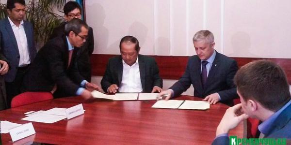 Кременчуг подписал меморандум о сотрудничестве с индонезийским городом Сидоарджо