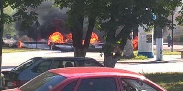 На кременчугской АЗС по Киевской пылал огонь