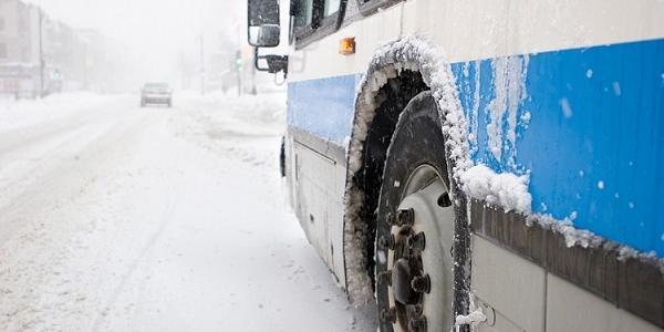 Из-за снегопада с автовокзала Кременчуга временно приостановлено движение автобусов и маршруток