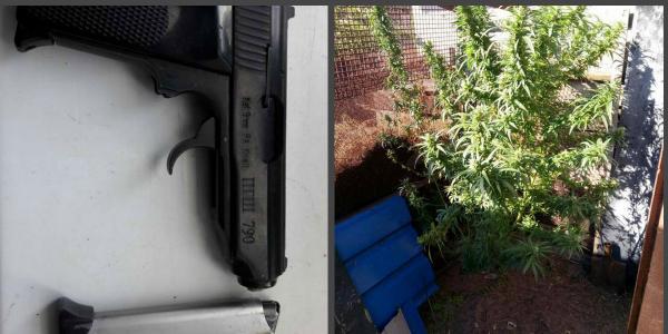 У мешканця Кременчука поліцейські вилучили пістолет та коноплі
