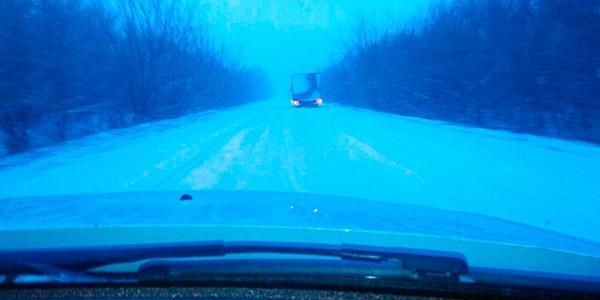 За Кременчуком дороги нечищені і небезпечні