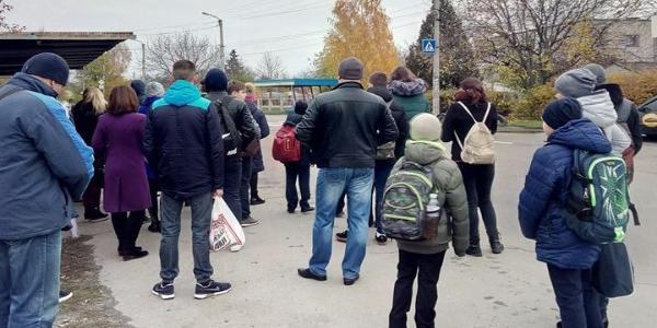 Маршрутки в часы пик будут пустыми подъезжать к остановке «Ул.Героев Украины»