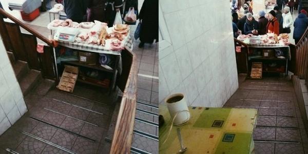 «А віз і нині там»: пандус у Центральному ринку Кременчука не отримав «свободи»
