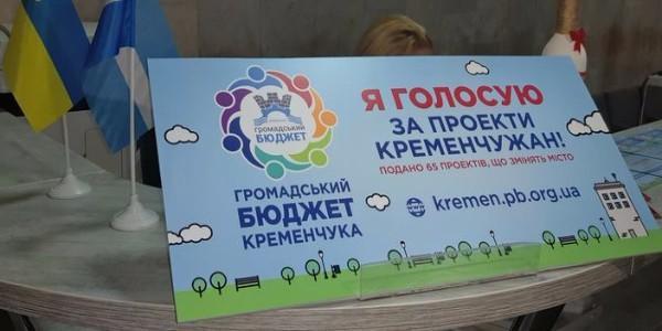 До завершення голосування за фінансування проектів Громадського бюджету Кременчука залишились лічені  години