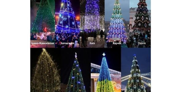 Головну ялинку Кременчука висунули на загальноукраїнський конкурс новорічних дерев