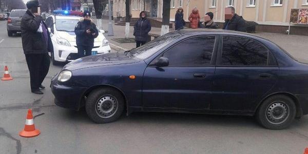 У центрі Кременчука не роз'їхалися два легковика