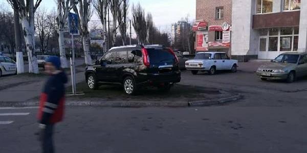 В Кременчуге обнаружен «победитель» парковки