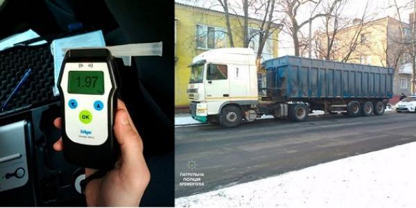 В Кременчуці вантажівкою Daf кермував п'яний водій