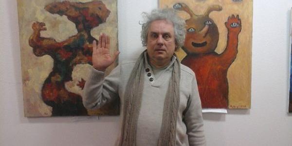 На Андріївському узвозі у Києві працює виставка кременчуцького художника