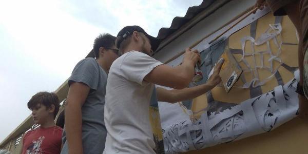 В Кременчуці сьогодні розпочалися роботи зі створення вуличного графіті, присвяченого захисникам України