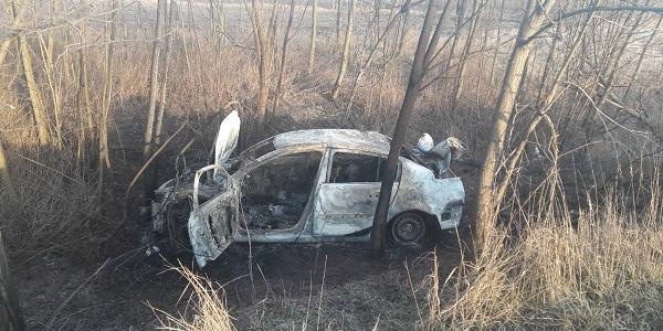 Під Кременчуком вщент згорів Renault