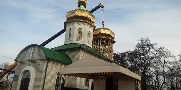 На храме Серафима Саровского в Кременчуге засияли новые купола