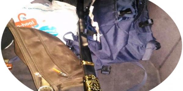 Патрульні поліцейські у центрі міста затримали кременчужанина із шаблею