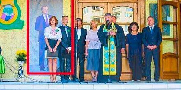 В гимназии №5 исчез стенд с народным мэром: «Вы теперь не Бабаева, вы теперь – Малецкого»