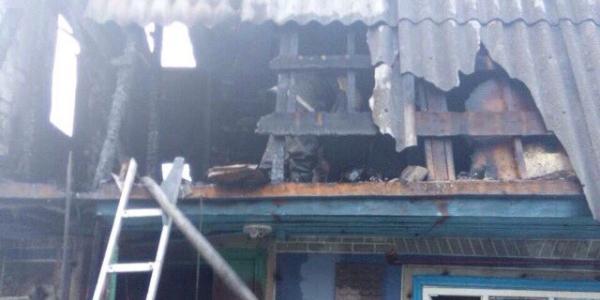 Вогнем пошкоджено горище будівлі та покриття даху площею 13 кв. м.