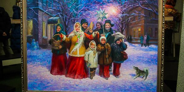 На контрасте: кременчугская Художественная галерея показывает новогодние мотивы и горячие абстрактные сюжеты
