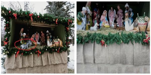 Дожилися: з різдвяного вертепу поцупили іграшки