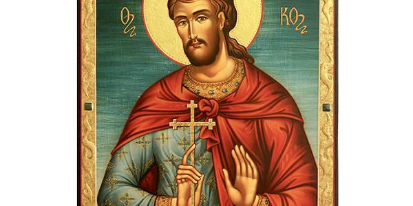 За христианскими рассказами, мученик спас от жажды воинов, которые гнали его на сожжение.