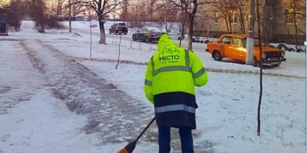 Сніг не став несподіванкою для компанії «Місто для людей. Кременчук»