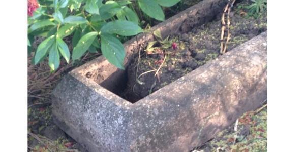 Зловмисник витягув з могили металеві швейлери.