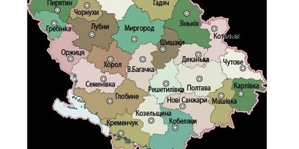 На Полтавщині створять інтерактивну карту області