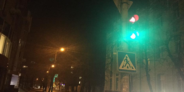Кременчужани скаржаться на світлофор на перехресті вулиць Перемоги та Сердюка
