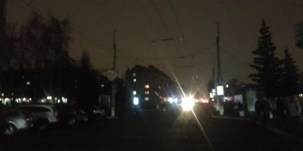 У Кременчуці вулиця Першотравнева поринула в темряву