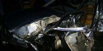 В Кременчуге горел автомобиль BMW