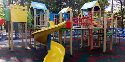 «Громадський бюджет Кременчука» у дії: у Крюкові з'явилося нове місце для дозвілля дітлахів