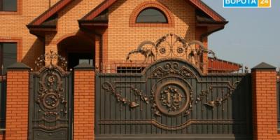 Про красивые кованые ворота и калитки в Харькове рассказывают представители vorota24.com.ua