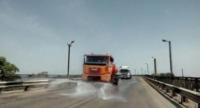 130 тонн воды вылили на дороги Кременчуга