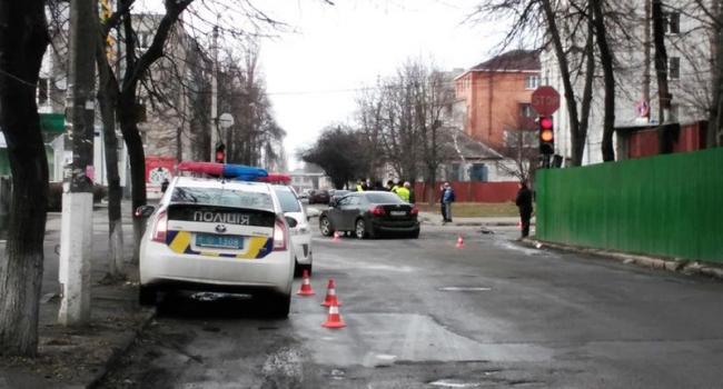 В центре Кременчуга столкнулись две «легковушки»