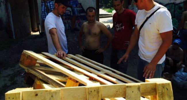 Фотофакт: в Кременчуге начали строить шор-трек