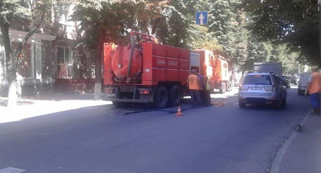 Ограничено движение по центральной улице в Кременчуге