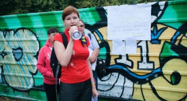 Кременчужане протестовали против строительства на площади Победы