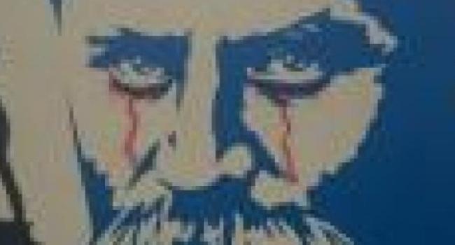 Вандал, обрисовавший граффити Шевченко, скрывал свое лицо под капюшоном