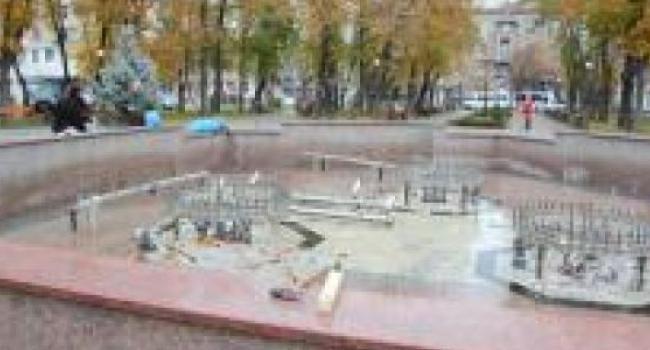 Кременчугский музыкальный фонтан готовят к «зимовке»